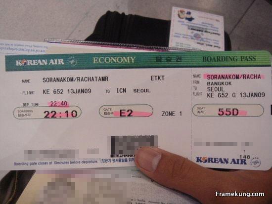 Flight to Seoul from BKK