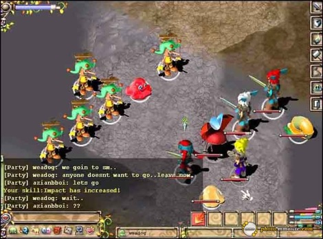 รูปแบบของการต่อสู้ในเกม Fairyland ที่เป็นแบบ Turn based มีระบบ Party ด้วย มีสายอาชีพให้เลือกเยอะแยะ