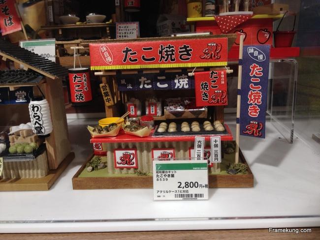 โมเดลร้านขายทาโกะยากิเล็กๆน่ารักดีครับ