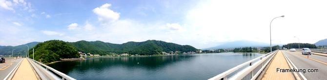 kawaguchiko lake panorama
