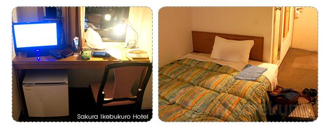 ห้องพักแบบเตียงเดี่ยวที่โรงแรมซากุระ อิเคบุคุโระ