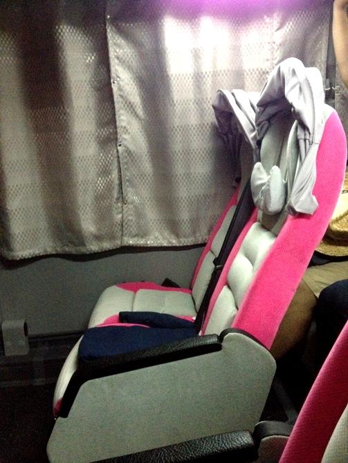 เก้าอี้ปรับนอนสะดวกสบายดีครับ มีที่เอาไว้บังแสงด้วย