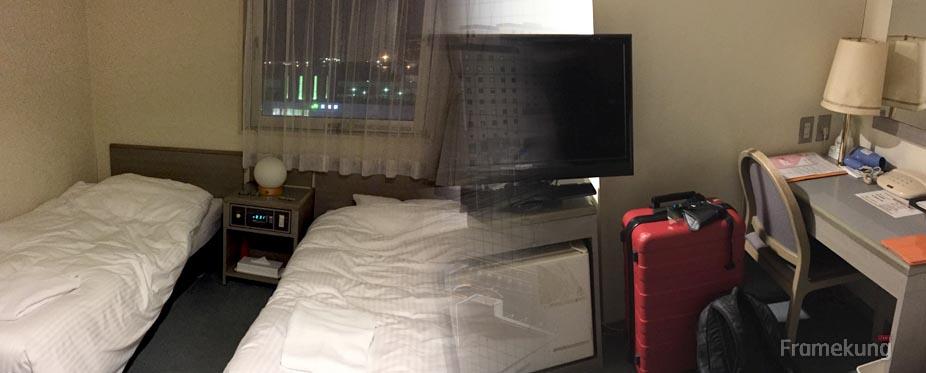 โรงแรม Smile Hotel Hakodate ห้องแบบ Twin room ตกคืนละ ¥5,800 ครับ