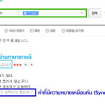 how-to-find-korean-synnonym-word