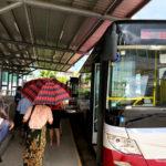 จุดขึ้นรถบัสเข้าเมือง จากสนามบินย่างกุ้ง