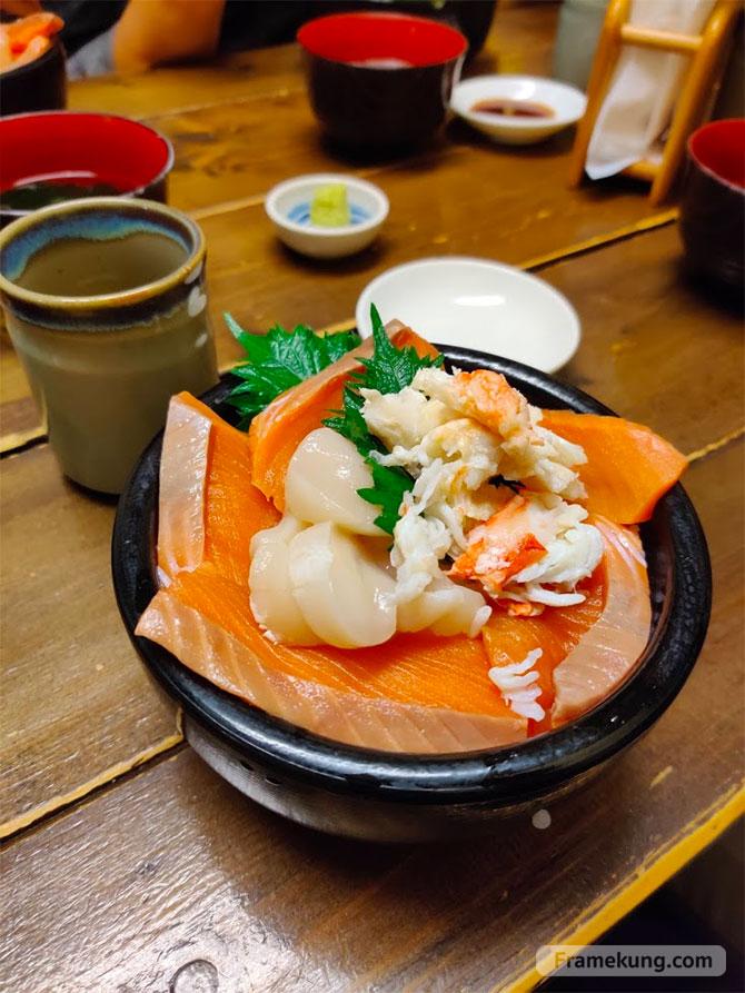 Kaisendon ข้าวหน้าปลา ซัปโปโร